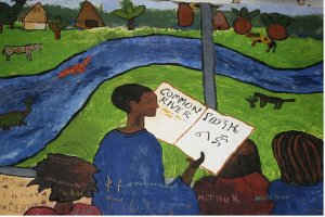 Common River drawing from children at Aleta Wondo, Ethiopia