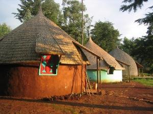 3 huts