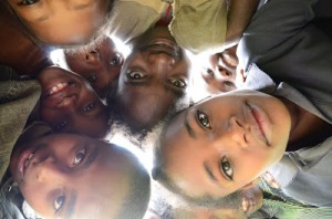 Children from Aleta Wondo, Ethiopia gazing down